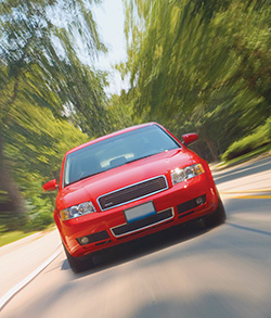 Photo Of A Red Car For Car Insurance, Somerset County, NJ - LaFontaine & Budd, Inc.
